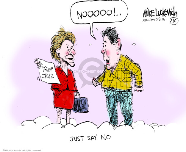 Cartoonist Mike Luckovich  Mike Luckovich's Editorial Cartoons 2016-03-08 Ronald
