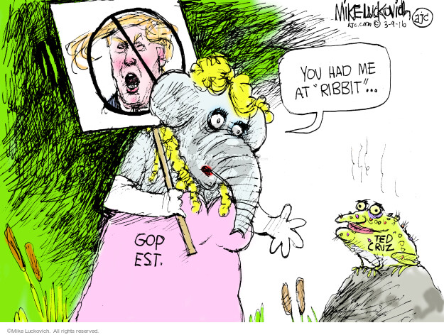 Mike Luckovich  Mike Luckovich's Editorial Cartoons 2016-03-09 Republican opposition