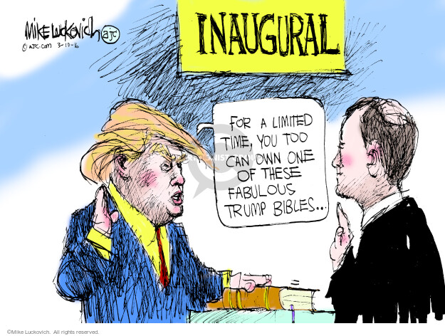 Cartoonist Mike Luckovich  Mike Luckovich's Editorial Cartoons 2016-03-10 election