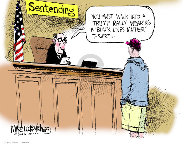 Cartoonist Mike Luckovich  Mike Luckovich's Editorial Cartoons 2016-03-15 sentence