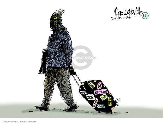 Mike Luckovich  Mike Luckovich's Editorial Cartoons 2016-03-23 death