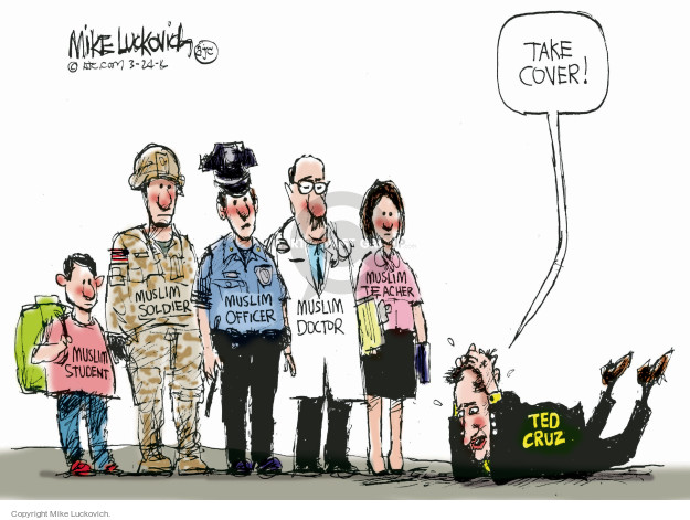 Cartoonist Mike Luckovich  Mike Luckovich's Editorial Cartoons 2016-03-24 election