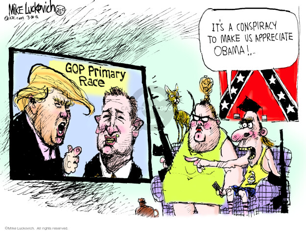 Mike Luckovich  Mike Luckovich's Editorial Cartoons 2016-03-30 Republican opposition