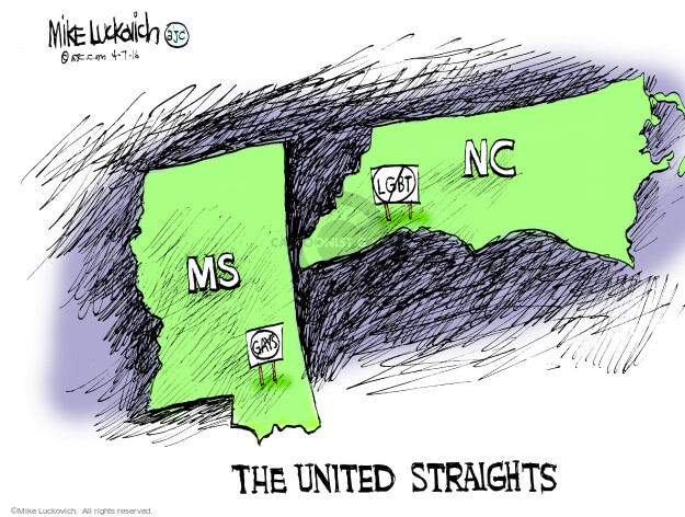 Mike Luckovich  Mike Luckovich's Editorial Cartoons 2016-04-07 homosexual