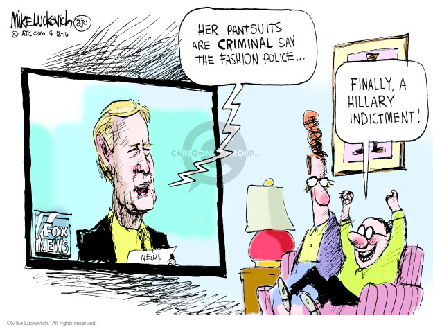 Cartoonist Mike Luckovich  Mike Luckovich's Editorial Cartoons 2016-04-12 Hillary Clinton
