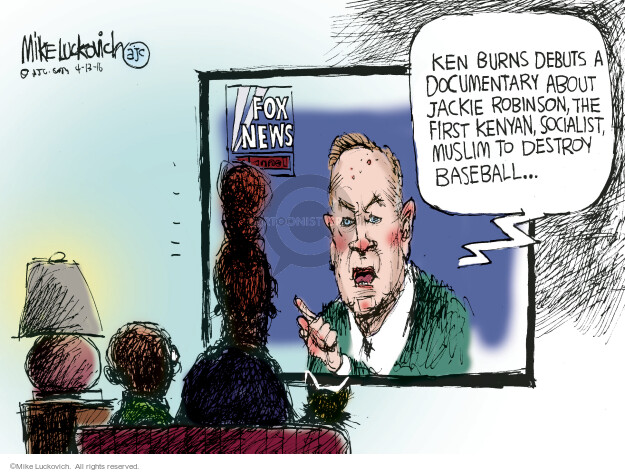 Cartoonist Mike Luckovich  Mike Luckovich's Editorial Cartoons 2016-04-13 television news