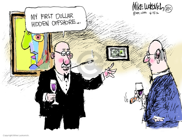 Cartoonist Mike Luckovich  Mike Luckovich's Editorial Cartoons 2016-04-15 tax
