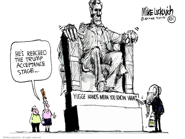 Cartoonist Mike Luckovich  Mike Luckovich's Editorial Cartoons 2016-04-27 election