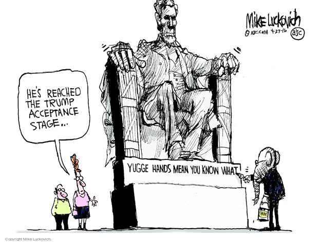 Cartoonist Mike Luckovich  Mike Luckovich's Editorial Cartoons 2016-04-27 Abraham Lincoln