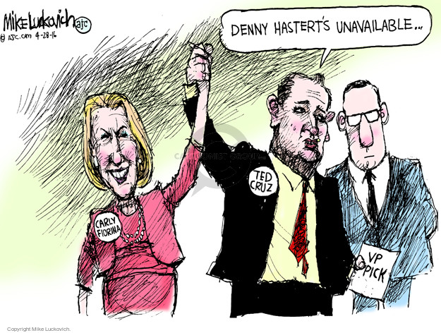 Cartoonist Mike Luckovich  Mike Luckovich's Editorial Cartoons 2016-04-28 election