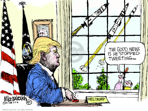 Cartoonist Mike Luckovich  Mike Luckovich's Editorial Cartoons 2016-05-03 election