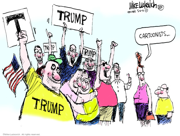 Cartoonist Mike Luckovich  Mike Luckovich's Editorial Cartoons 2016-05-06 election