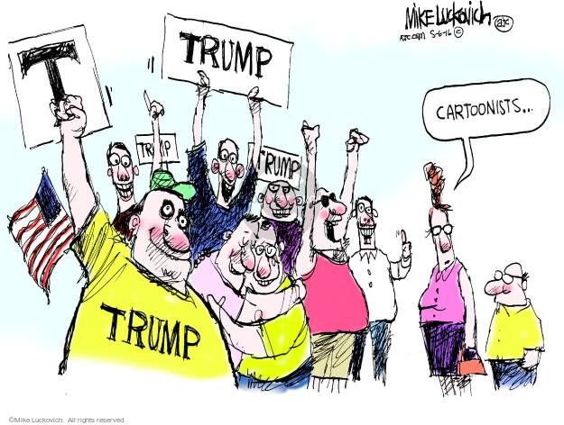 T. Trump. Cartoonists …