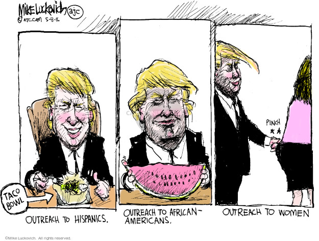 Cartoonist Mike Luckovich  Mike Luckovich's Editorial Cartoons 2016-05-08 ethnicity