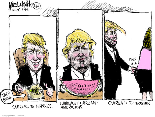 Mike Luckovich  Mike Luckovich's Editorial Cartoons 2016-05-08 women candidates