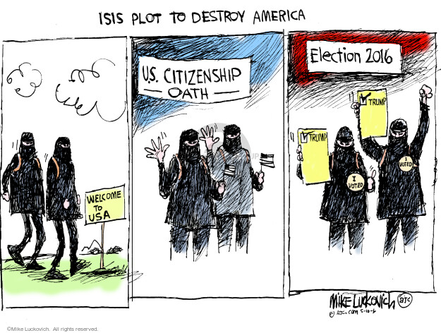 Mike Luckovich  Mike Luckovich's Editorial Cartoons 2016-05-10 terror
