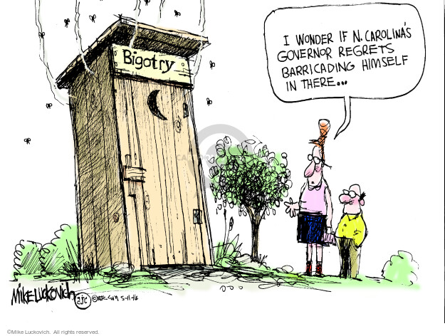Cartoonist Mike Luckovich  Mike Luckovich's Editorial Cartoons 2016-05-11 civil liberty