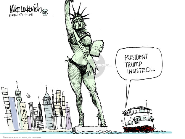 Cartoonist Mike Luckovich  Mike Luckovich's Editorial Cartoons 2016-05-12 liberty