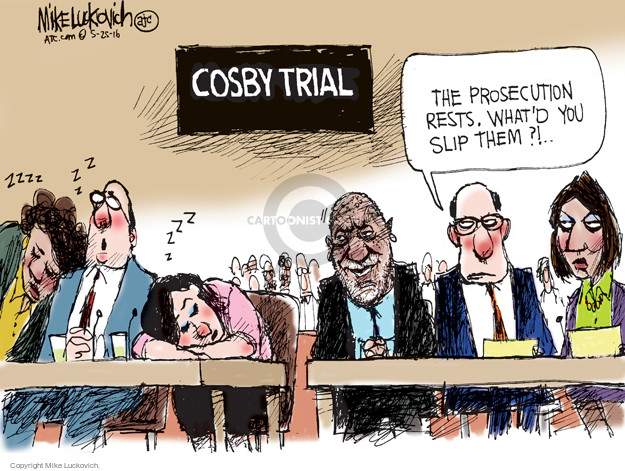 Cartoonist Mike Luckovich  Mike Luckovich's Editorial Cartoons 2016-05-25 courtroom