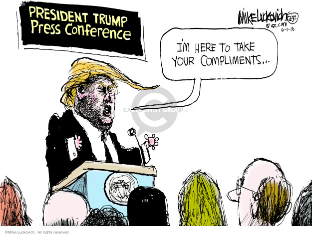 Mike Luckovich  Mike Luckovich's Editorial Cartoons 2016-06-01 freedom of the press