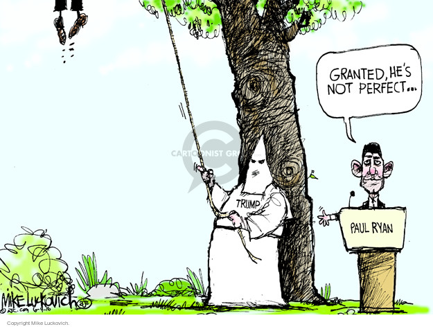 Mike Luckovich  Mike Luckovich's Editorial Cartoons 2016-06-09 racism