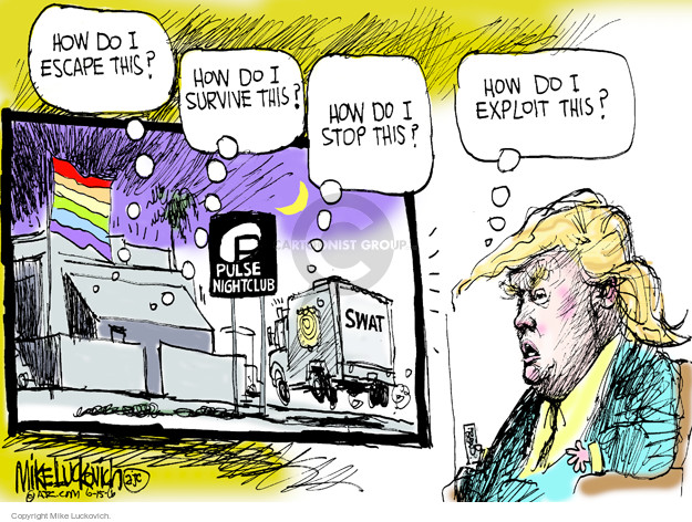 Mike Luckovich  Mike Luckovich's Editorial Cartoons 2016-06-15 assault weapon
