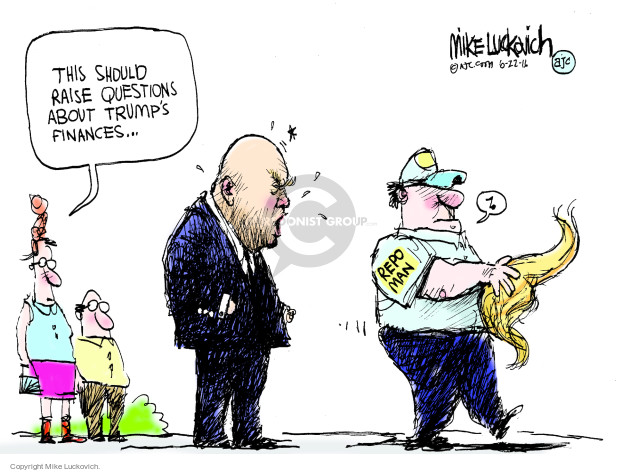 Cartoonist Mike Luckovich  Mike Luckovich's Editorial Cartoons 2016-06-22 election