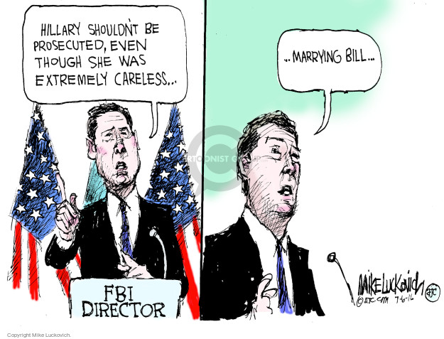 Mike Luckovich  Mike Luckovich's Editorial Cartoons 2016-07-06 2016 Election Hillary Clinton