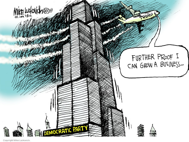 Mike Luckovich  Mike Luckovich's Editorial Cartoons 2016-07-07 presidential election