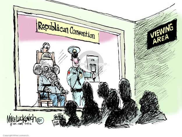 Mike Luckovich  Mike Luckovich's Editorial Cartoons 2016-07-19 die