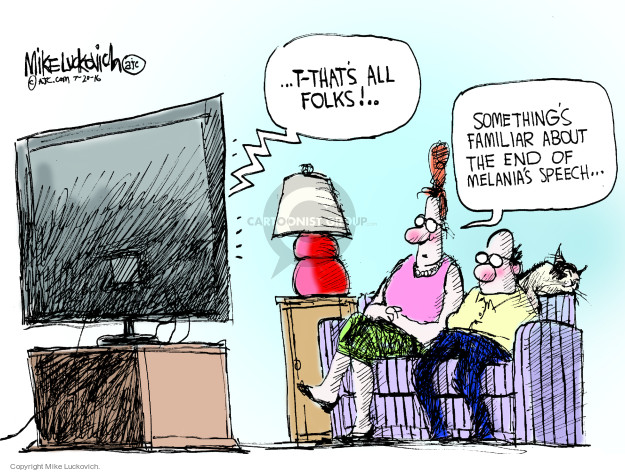 Cartoonist Mike Luckovich  Mike Luckovich's Editorial Cartoons 2016-07-20 election