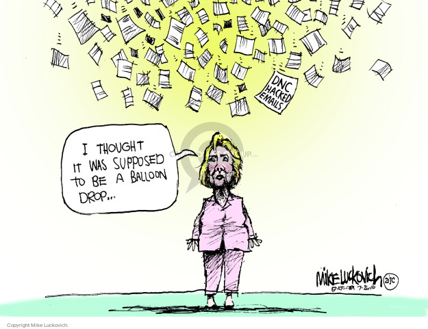 Cartoonist Mike Luckovich  Mike Luckovich's Editorial Cartoons 2016-07-26 Hillary Clinton