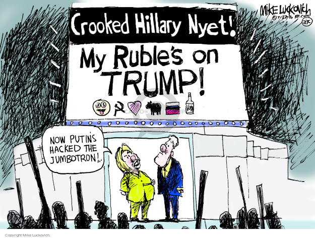 Cartoonist Mike Luckovich  Mike Luckovich's Editorial Cartoons 2016-07-27 Hillary Clinton