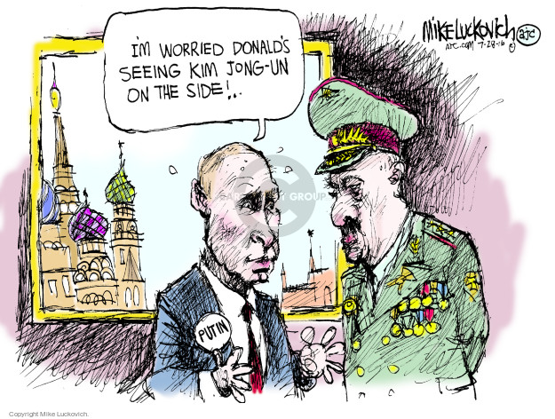 Cartoonist Mike Luckovich  Mike Luckovich's Editorial Cartoons 2016-07-28 election
