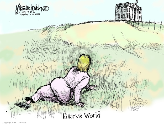 Cartoonist Mike Luckovich  Mike Luckovich's Editorial Cartoons 2016-07-29 Hillary Clinton