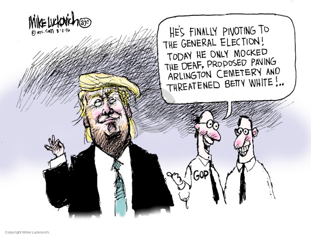Cartoonist Mike Luckovich  Mike Luckovich's Editorial Cartoons 2016-08-02 election