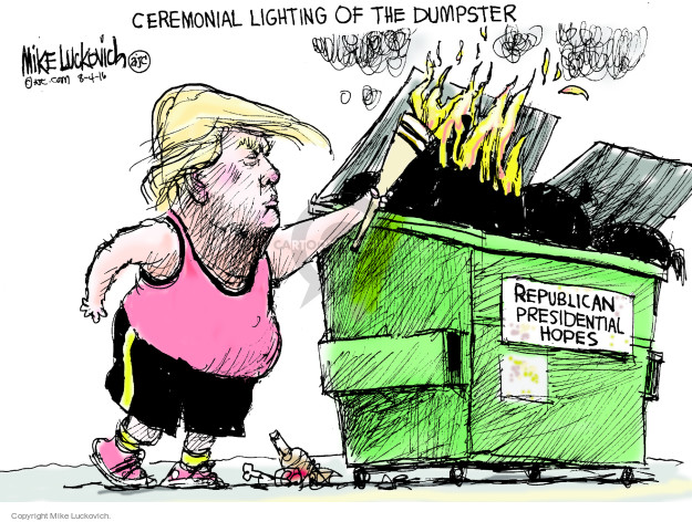 Cartoonist Mike Luckovich  Mike Luckovich's Editorial Cartoons 2016-08-04 light
