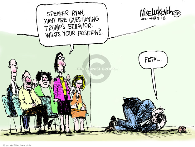 Cartoonist Mike Luckovich  Mike Luckovich's Editorial Cartoons 2016-08-05 election