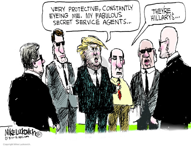 Mike Luckovich  Mike Luckovich's Editorial Cartoons 2016-08-10 2016 Election Hillary Clinton