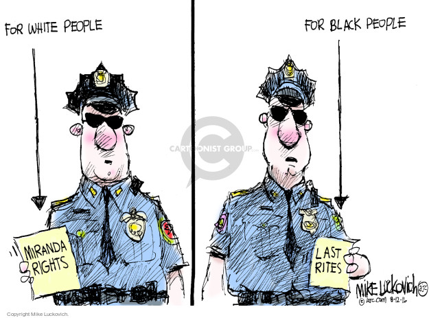 Mike Luckovich  Mike Luckovich's Editorial Cartoons 2016-08-12 discrimination