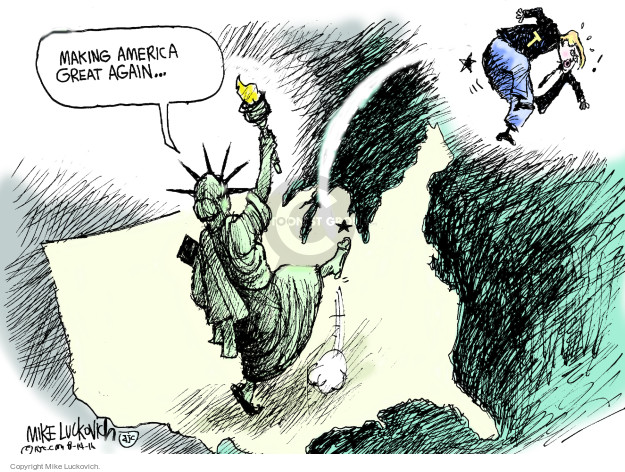 Mike Luckovich  Mike Luckovich's Editorial Cartoons 2016-08-14 presidential election