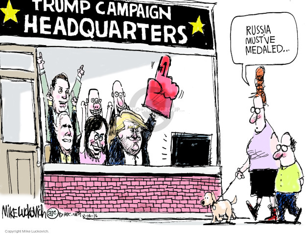 Mike Luckovich  Mike Luckovich's Editorial Cartoons 2016-08-16 Mike Pence
