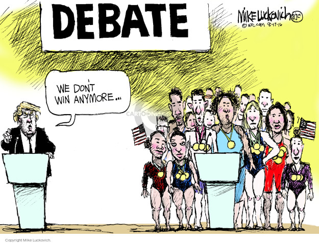 Mike Luckovich  Mike Luckovich's Editorial Cartoons 2016-08-17 summer Olympics