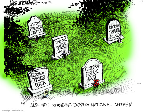 Mike Luckovich  Mike Luckovich's Editorial Cartoons 2016-08-31 racism