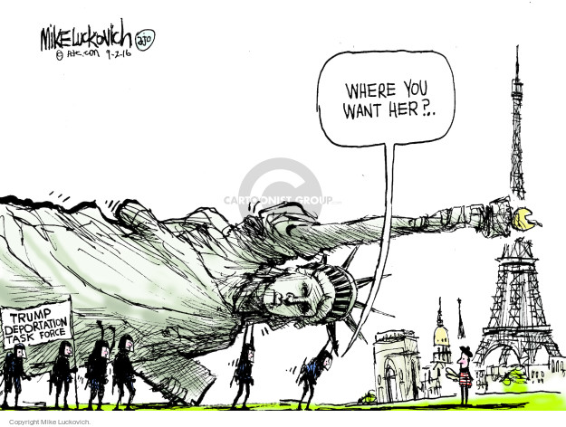 Mike Luckovich  Mike Luckovich's Editorial Cartoons 2016-09-02 presidential candidate