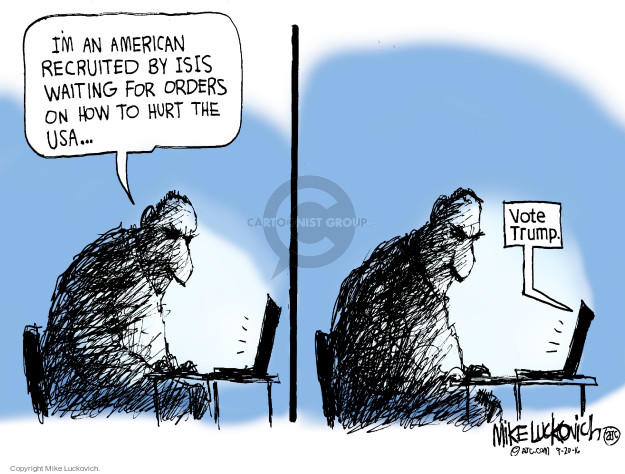 Mike Luckovich  Mike Luckovich's Editorial Cartoons 2016-09-20 presidential candidate