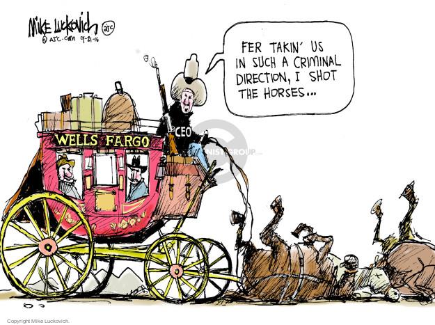 Cartoonist Mike Luckovich  Mike Luckovich's Editorial Cartoons 2016-09-21 finance