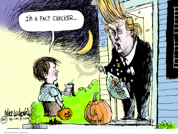 Mike Luckovich  Mike Luckovich's Editorial Cartoons 2016-09-27 presidential candidate