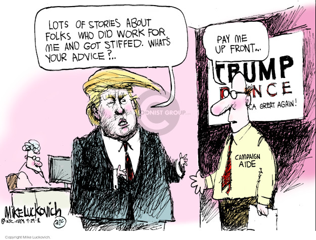 Mike Luckovich  Mike Luckovich's Editorial Cartoons 2016-09-29 presidential candidate