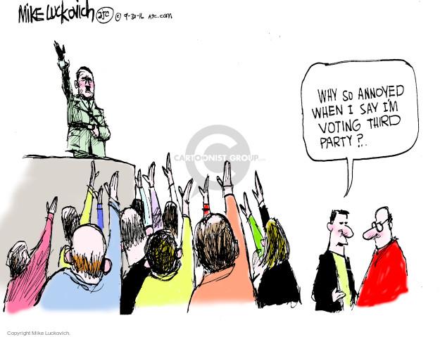 Cartoonist Mike Luckovich  Mike Luckovich's Editorial Cartoons 2016-09-30 Adolf Hitler